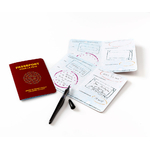 "Carte invitation anniversaire ""passeport"" (5 cartes)"