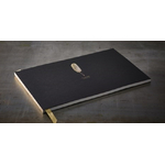 "Grand livre d'or noir ""plume - livre d'or"" 34 x 21 cm"