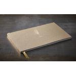 """Grand livre d'or kraft  """"plume - livre d'or"""" 34 x 21 cm"""