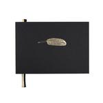 """Livre d'or noir """"plume"""" format A5"""