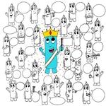 """Affiche d'anniversaire à colorier """"les Oides font la teuf d'anniversaire"""" - 25 personnages"""