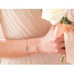 Bracelet pastille sur chaine