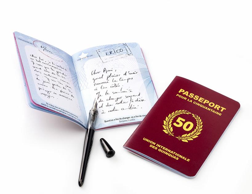 Livre D Or Passeport Pour La Cinquantaine Carte 50 Ans
