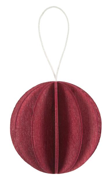 Bauble 4cm or 6cm dark red