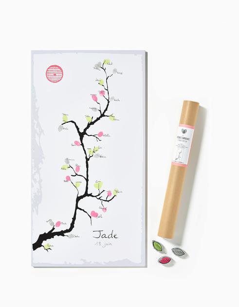 affiche empreintes estampe cerisier kit affiche encreurs. Black Bedroom Furniture Sets. Home Design Ideas