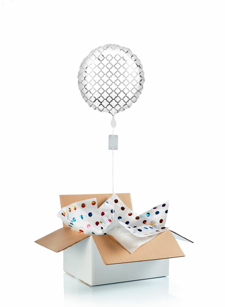 Ballon-helium-argente