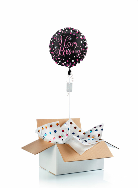 Ballon-helium-anniversaire-etincelant-rose