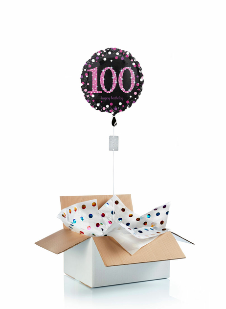 Ballon-helium-100-ans-rose