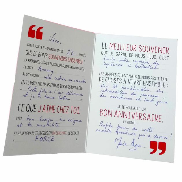 3 Cartes D Anniversaire Phrases A Completer Lettre A Trous