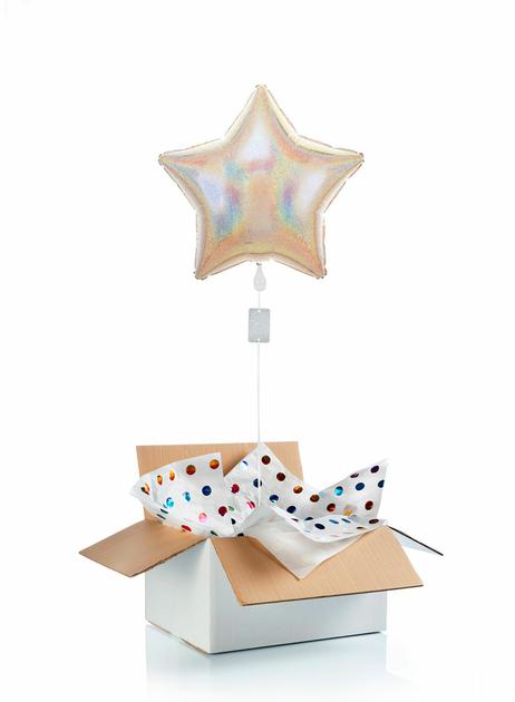 Ballon-helium-etoile-argentee