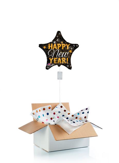 Ballon-helium-etoile-bonne-année