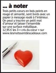 magnets en coeur