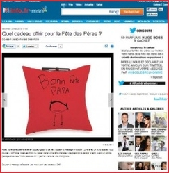 coussin a message