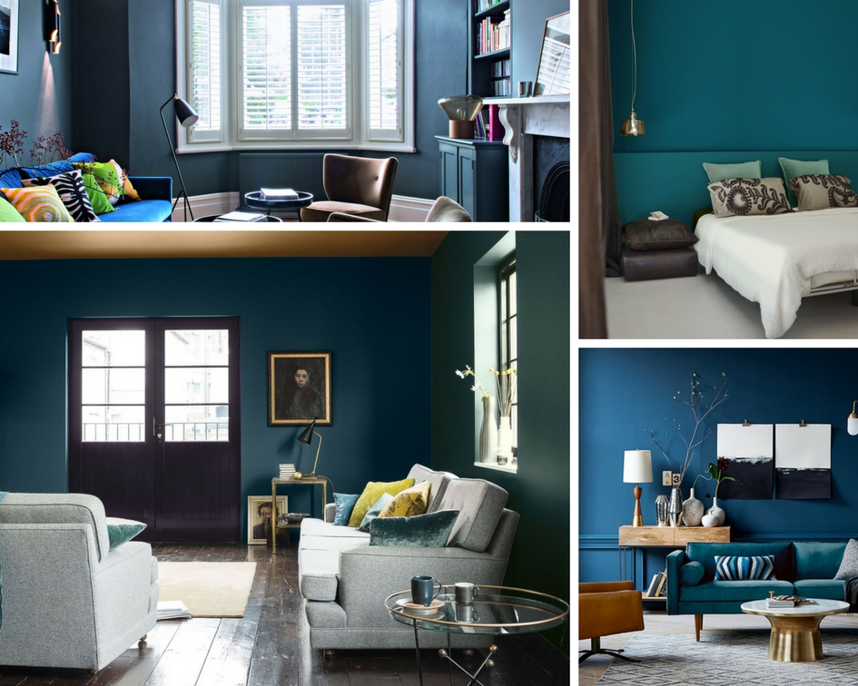 inspiration l irr sistible bleu paon tendances du blog hiflot. Black Bedroom Furniture Sets. Home Design Ideas