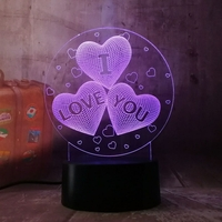 Lampe 3D I love you