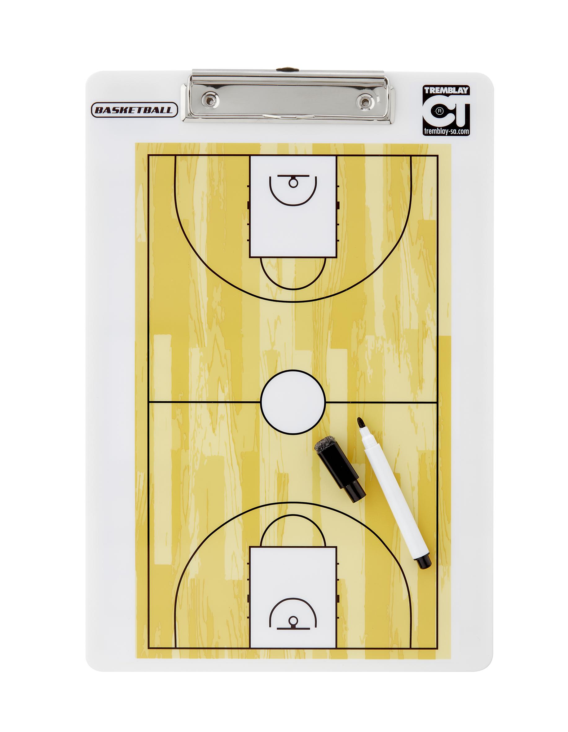 TREMBLAY PLAQUETTE COACH EFFACABLE RECTO-VERSO - BASKETBALL