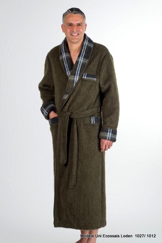 Robe de chambre chiroulet peignoirs label pyr n es - Robe de chambre homme laine des pyrenees ...