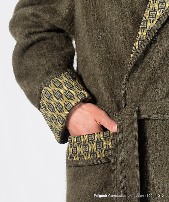 Robe de chambre Modèle Camoudiet 100 % laine