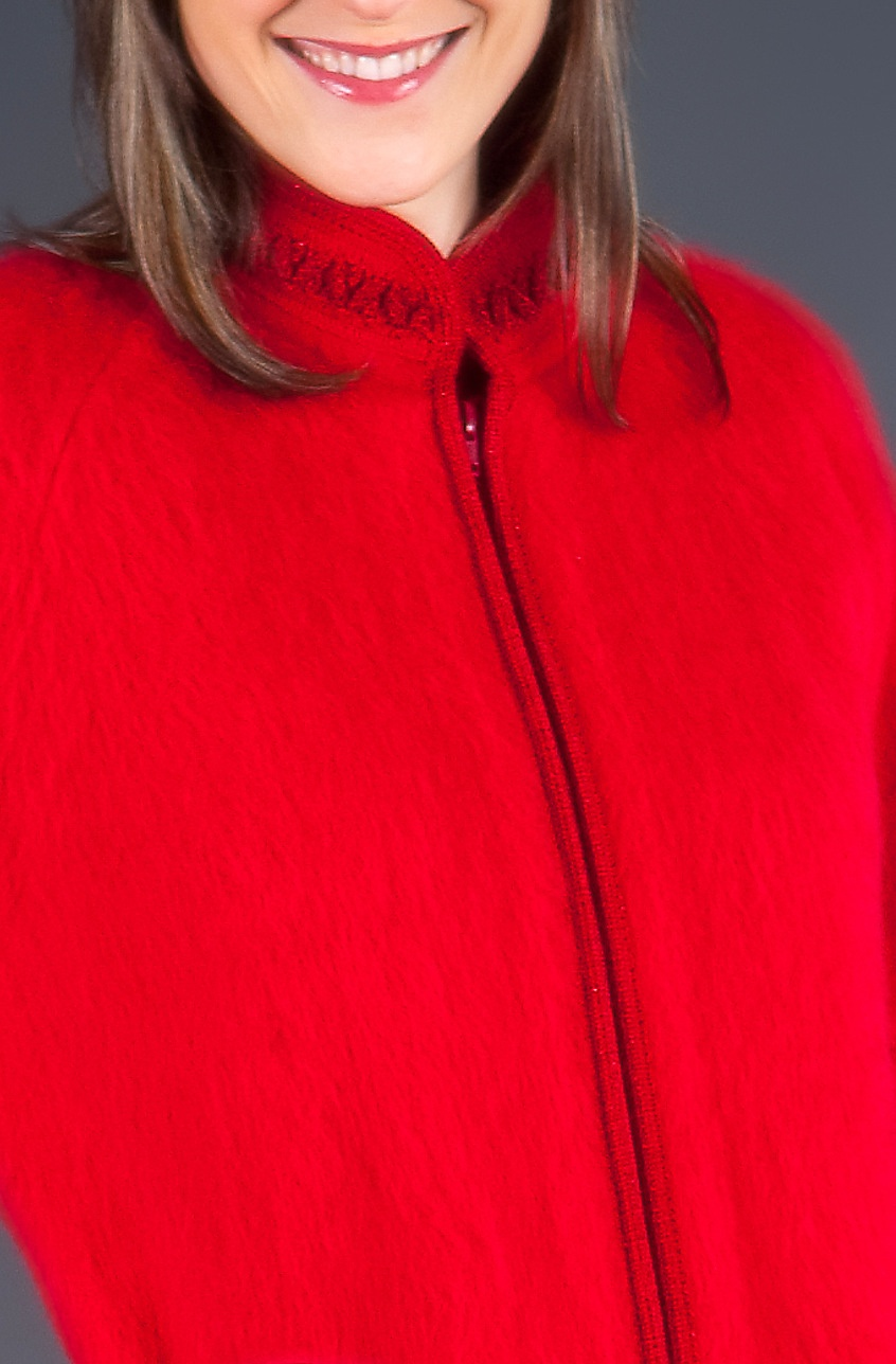 Robe d'hôtesse zippée col galon torsadé