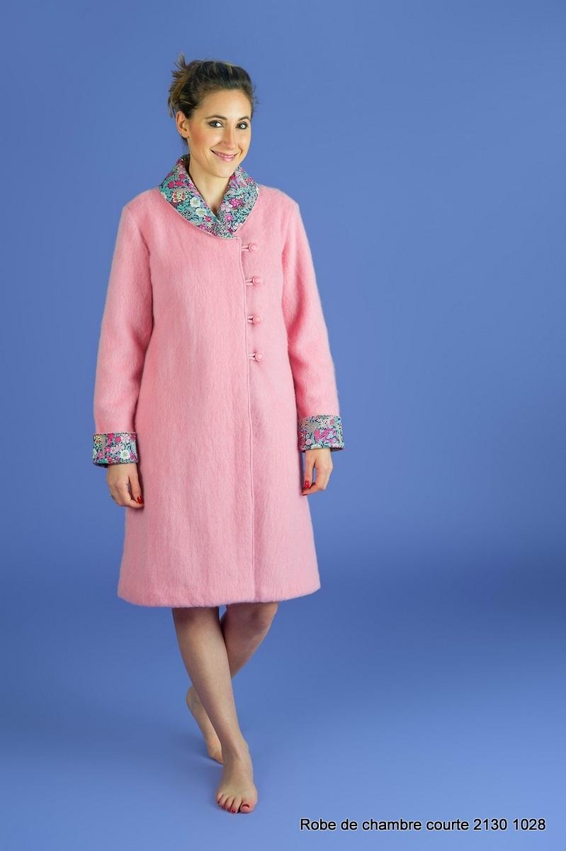 Robe de chambre courte en laine