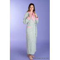 Robe de chambre femme bicolore 100 % laine