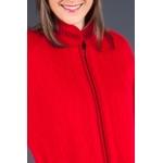 Robe de chambre zippée en laine