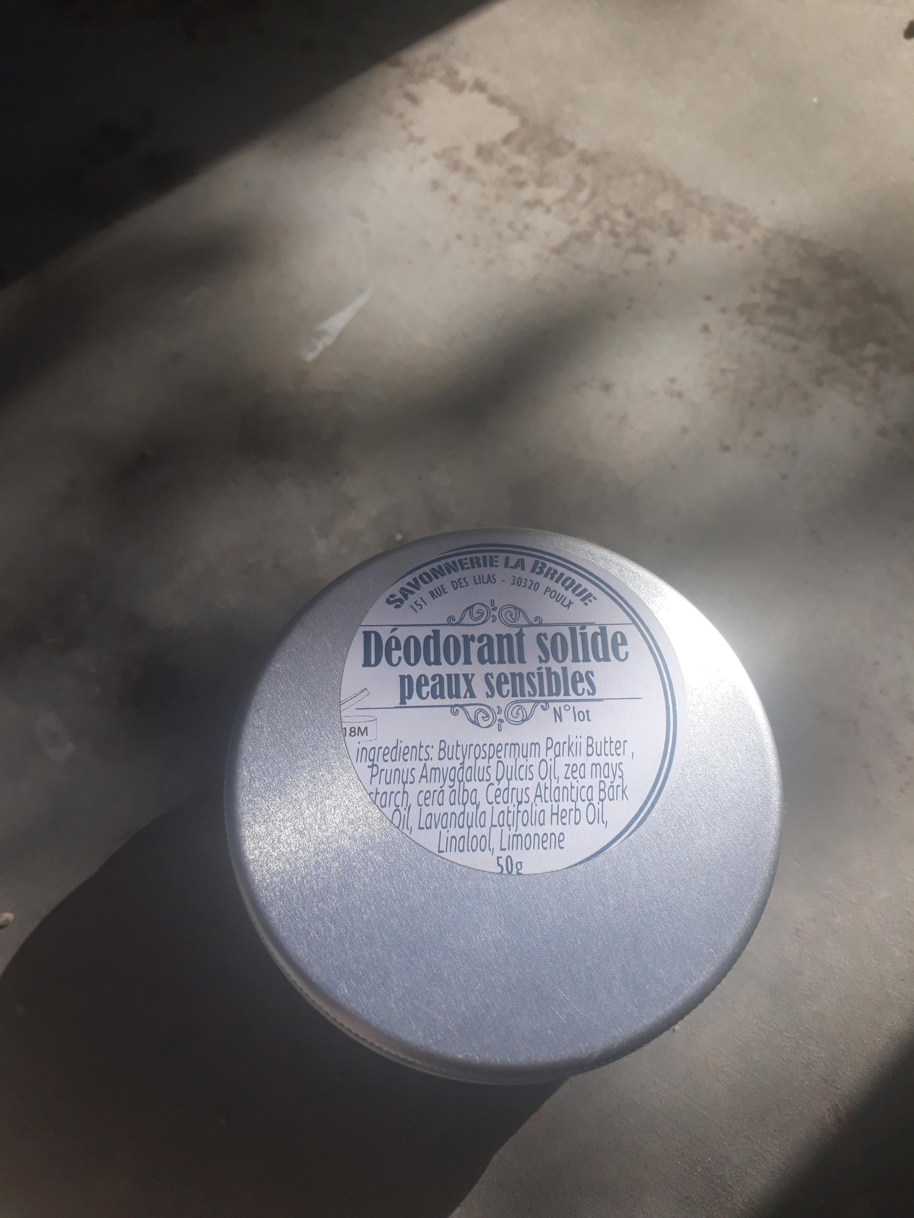 Déodorant solide - peaux sensibles (sans bicarbonate)