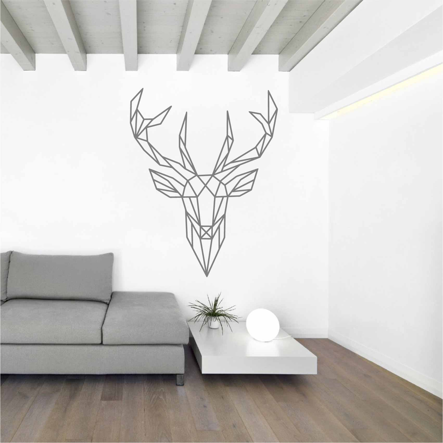 animaux origami deco best stickers muraux animaux sticker design origami tte de cerf with. Black Bedroom Furniture Sets. Home Design Ideas