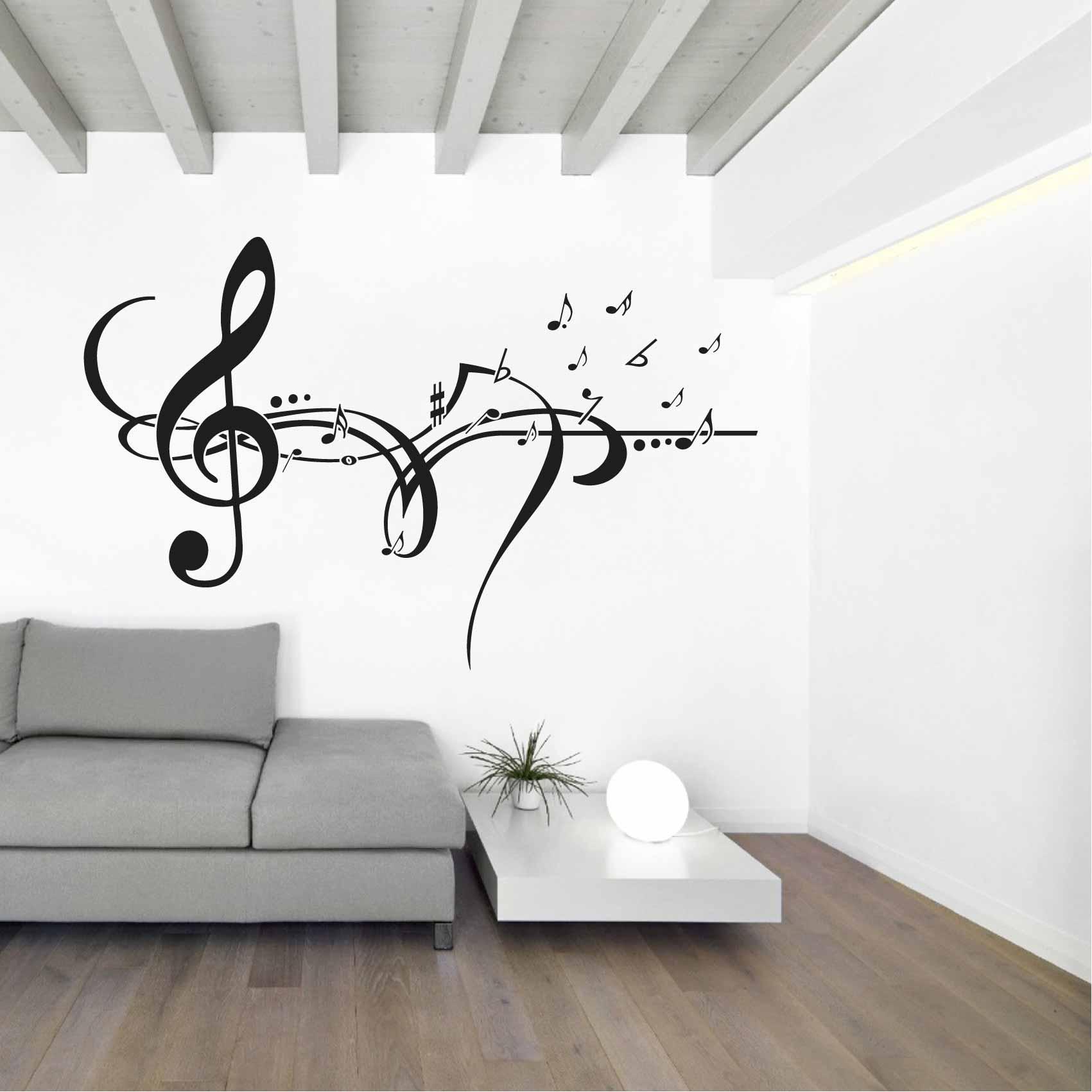 Stickers Cle De Sol Musique Autocollant Muraux Et Deco