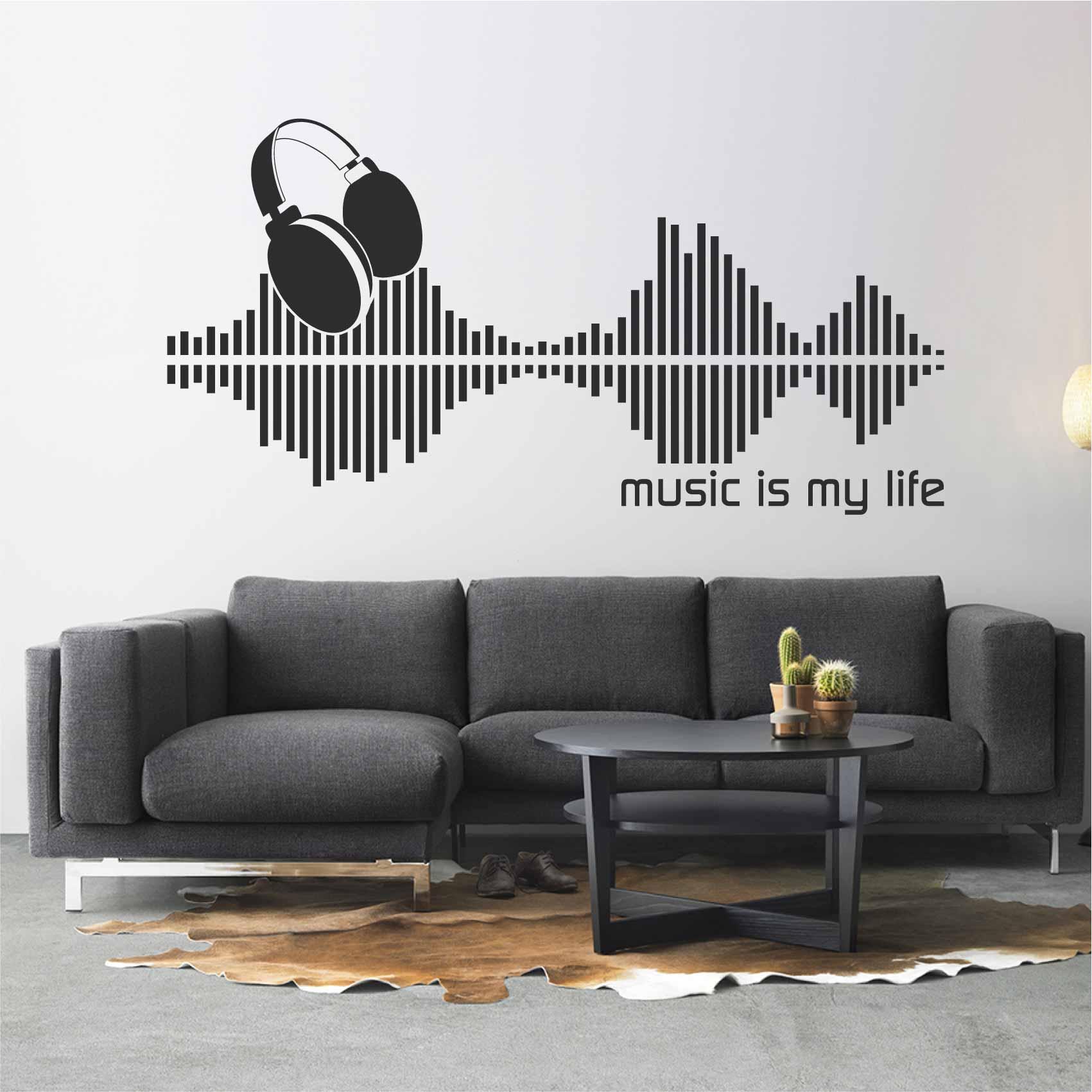 Stickers De Musique Autocollant Muraux Et Deco
