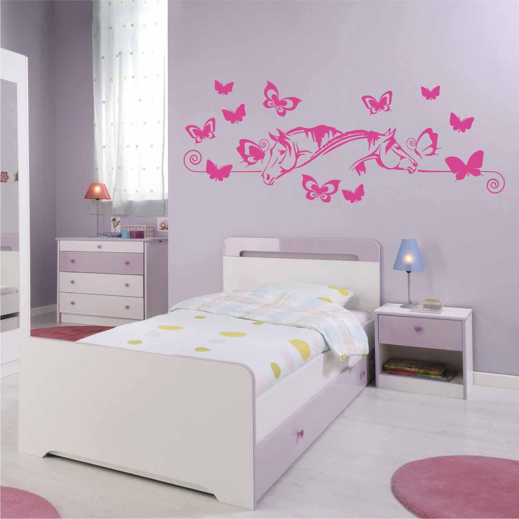 Stickers Papillon Chevaux - Autocollant muraux et deco