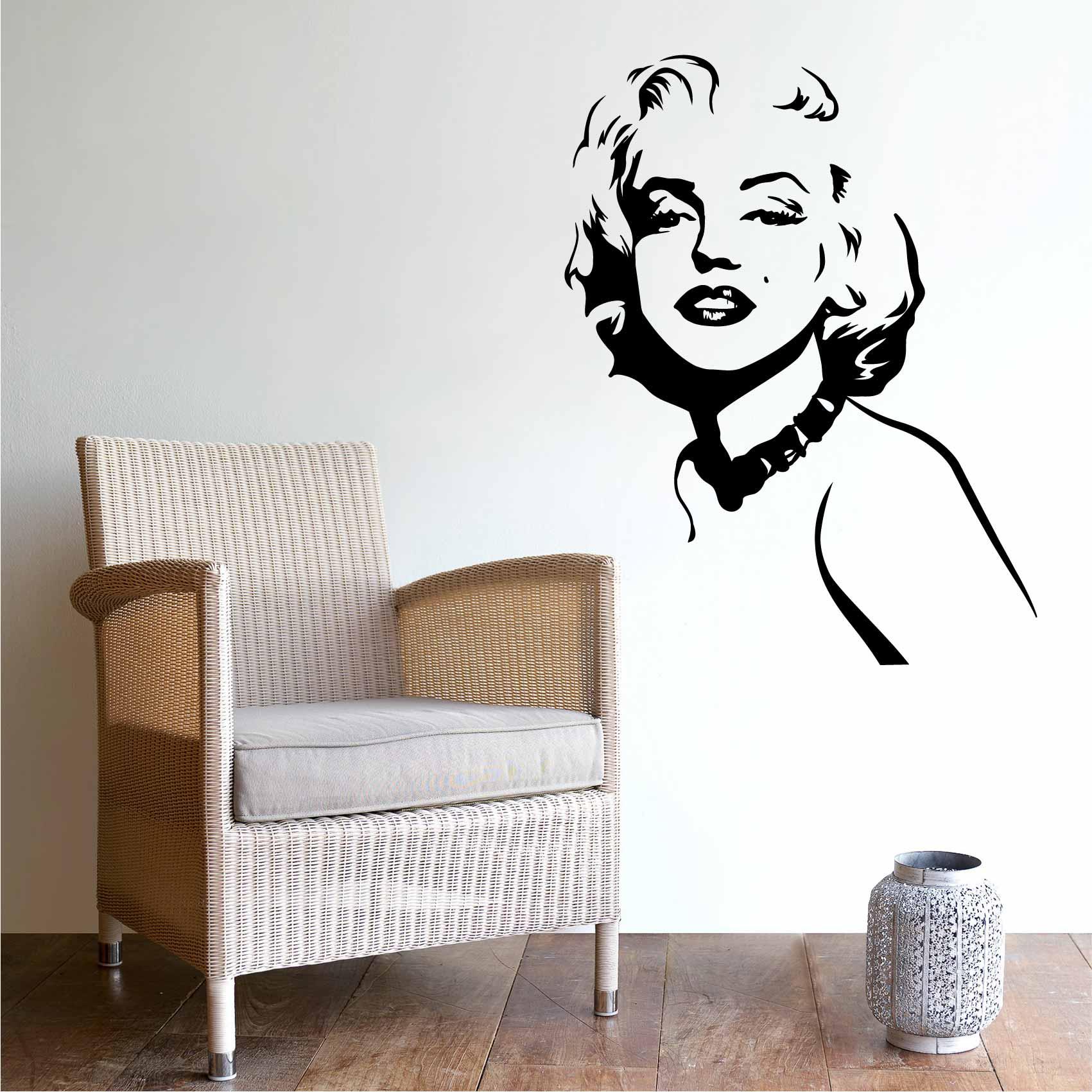 Deco Chambre Maryline Monroe stickers marilyn monroe