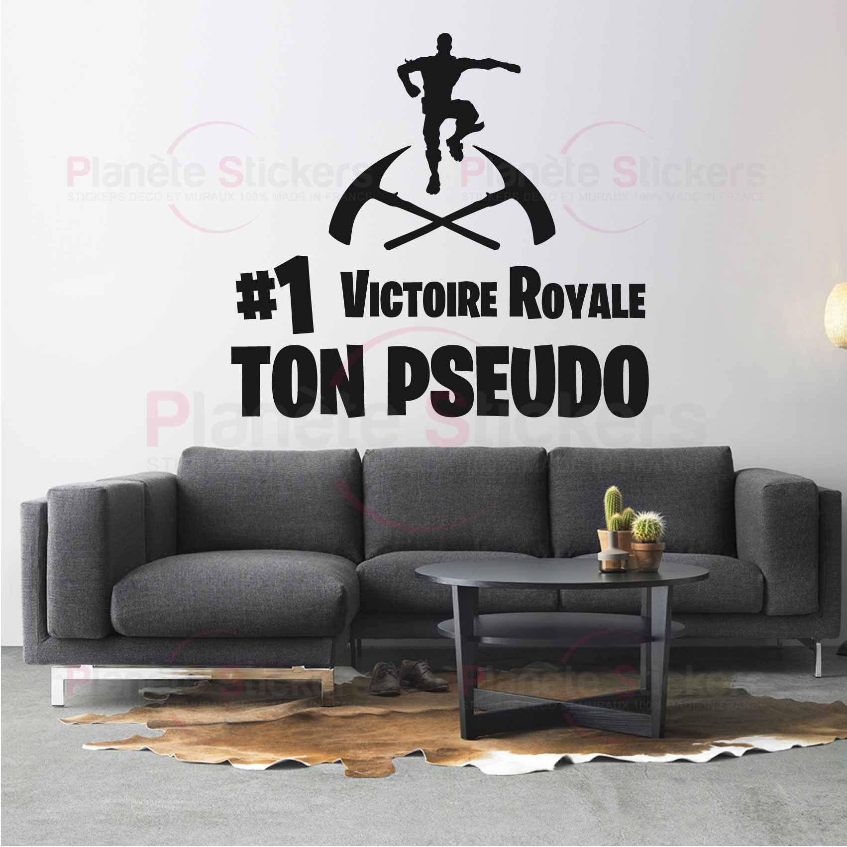 Stickers Fortnite Personnalise Battle Royale Autocollant Muraux Et