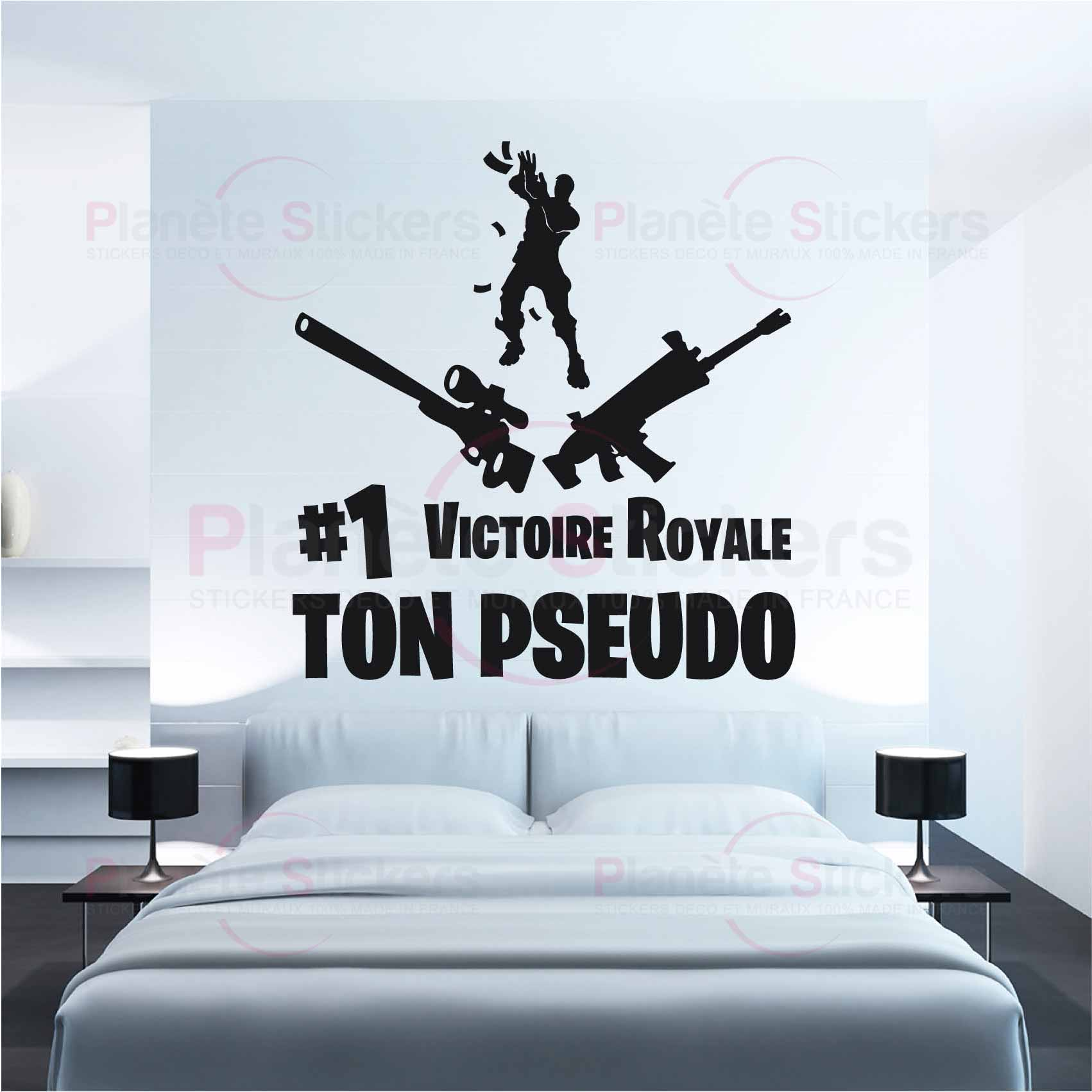 Stickers Fortnite Personnalise Victoire Royale Autocollant Muraux