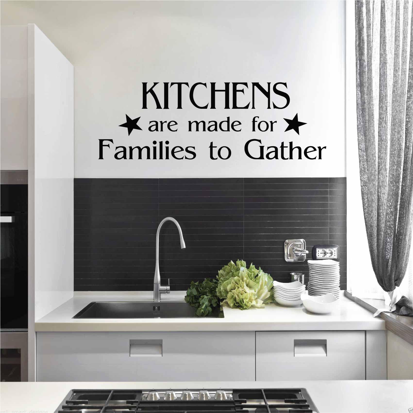 Stickers citation cuisine famille - Autocollant muraux et deco
