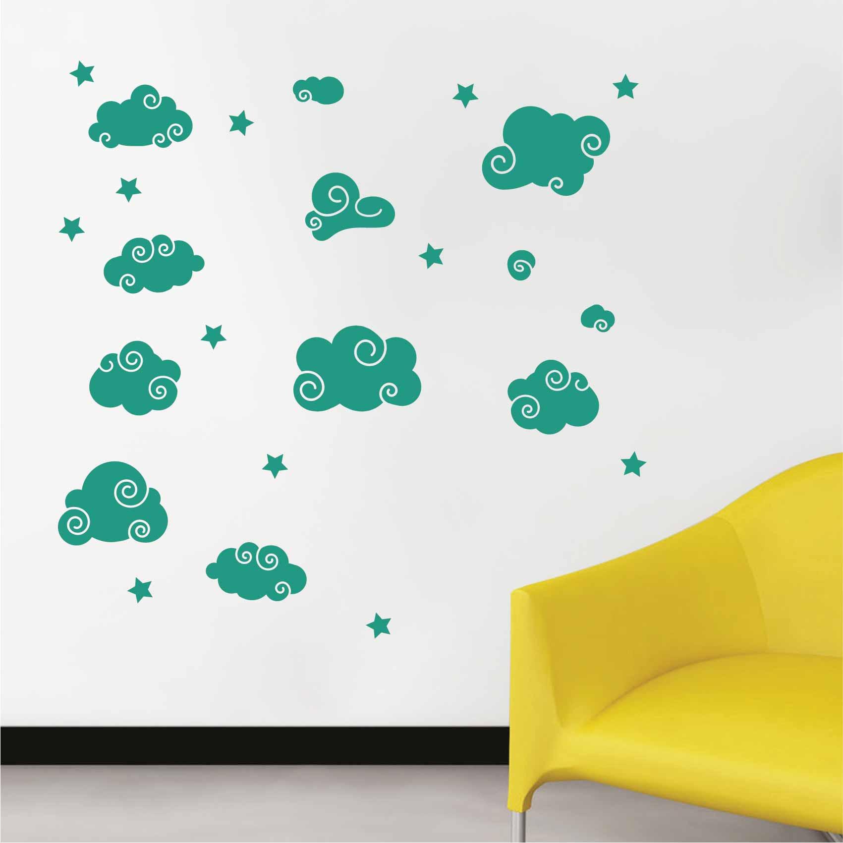 Stickers Nuages - Autocollant muraux et deco