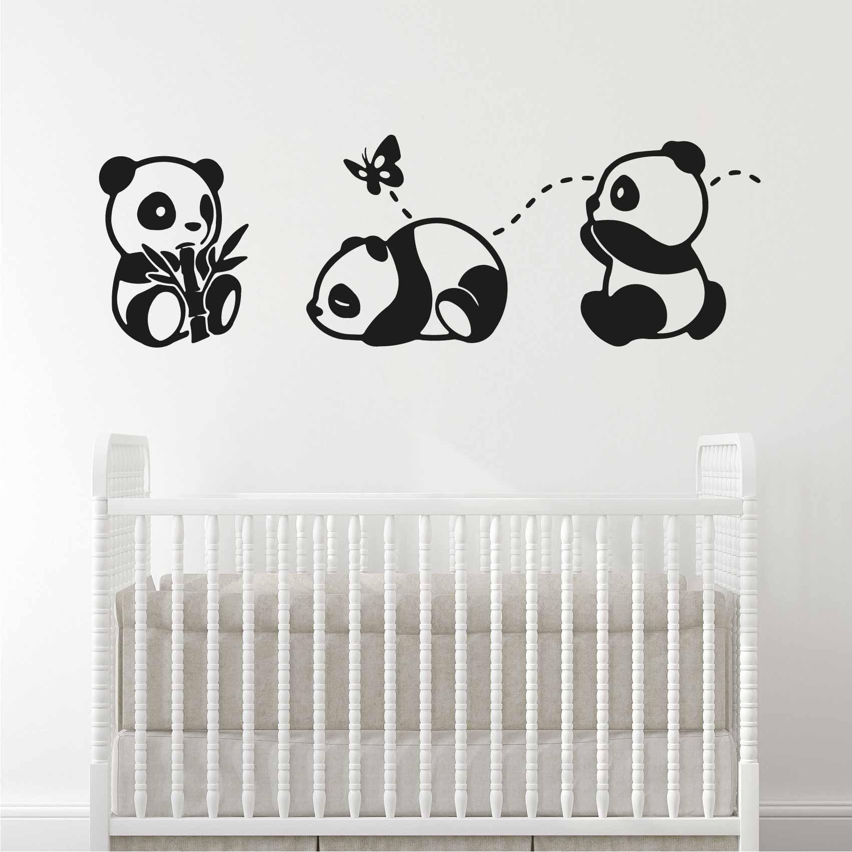 Stickers Muraux Chambre Bébé stickers bébés panda