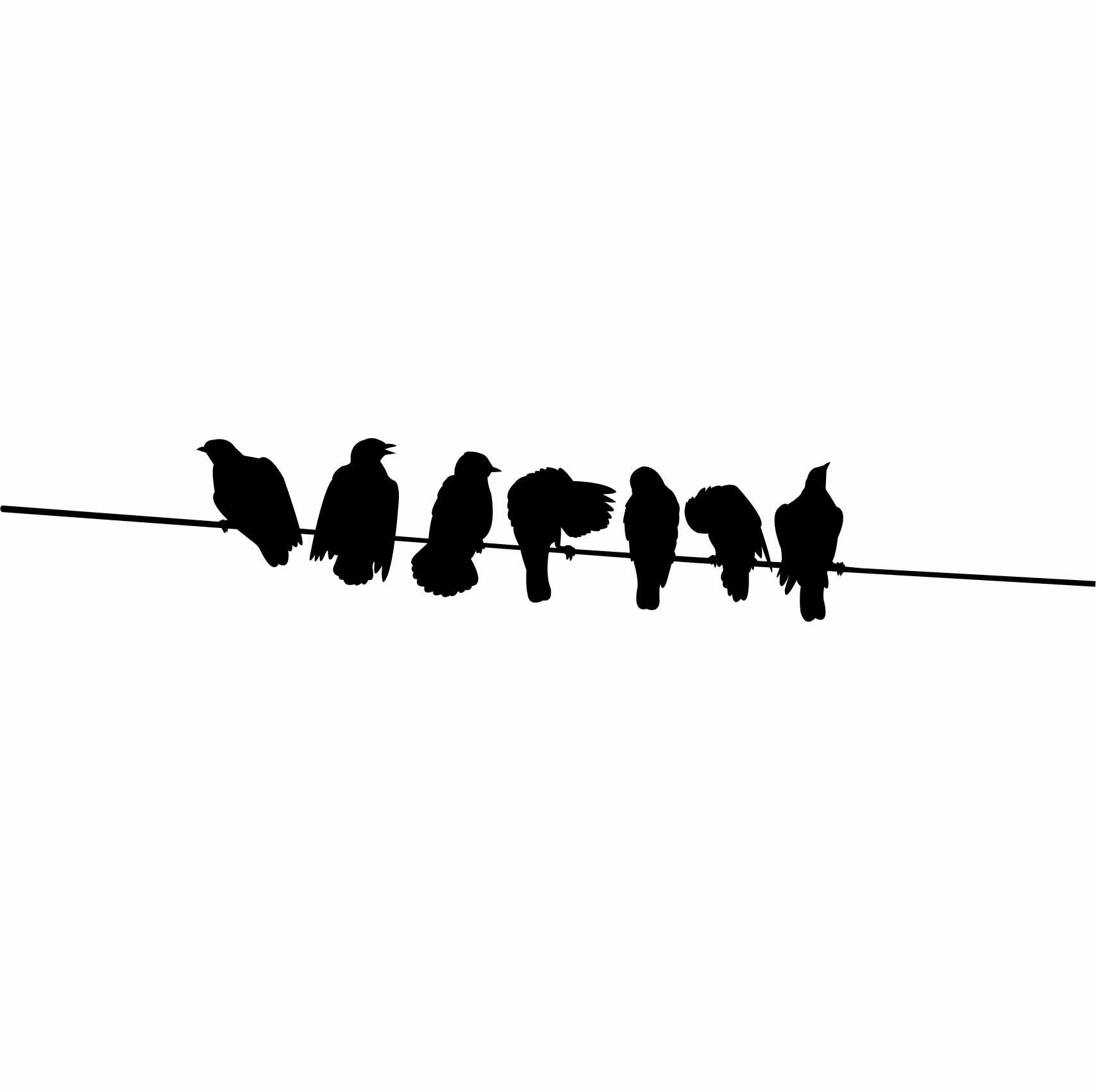 Sticker Oiseaux Sur Un Fil stickers oiseaux sur un fil