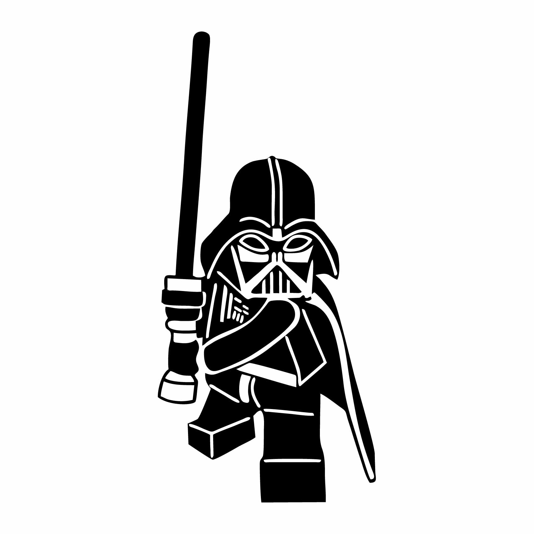 Stickers Dark Vador Lego Art
