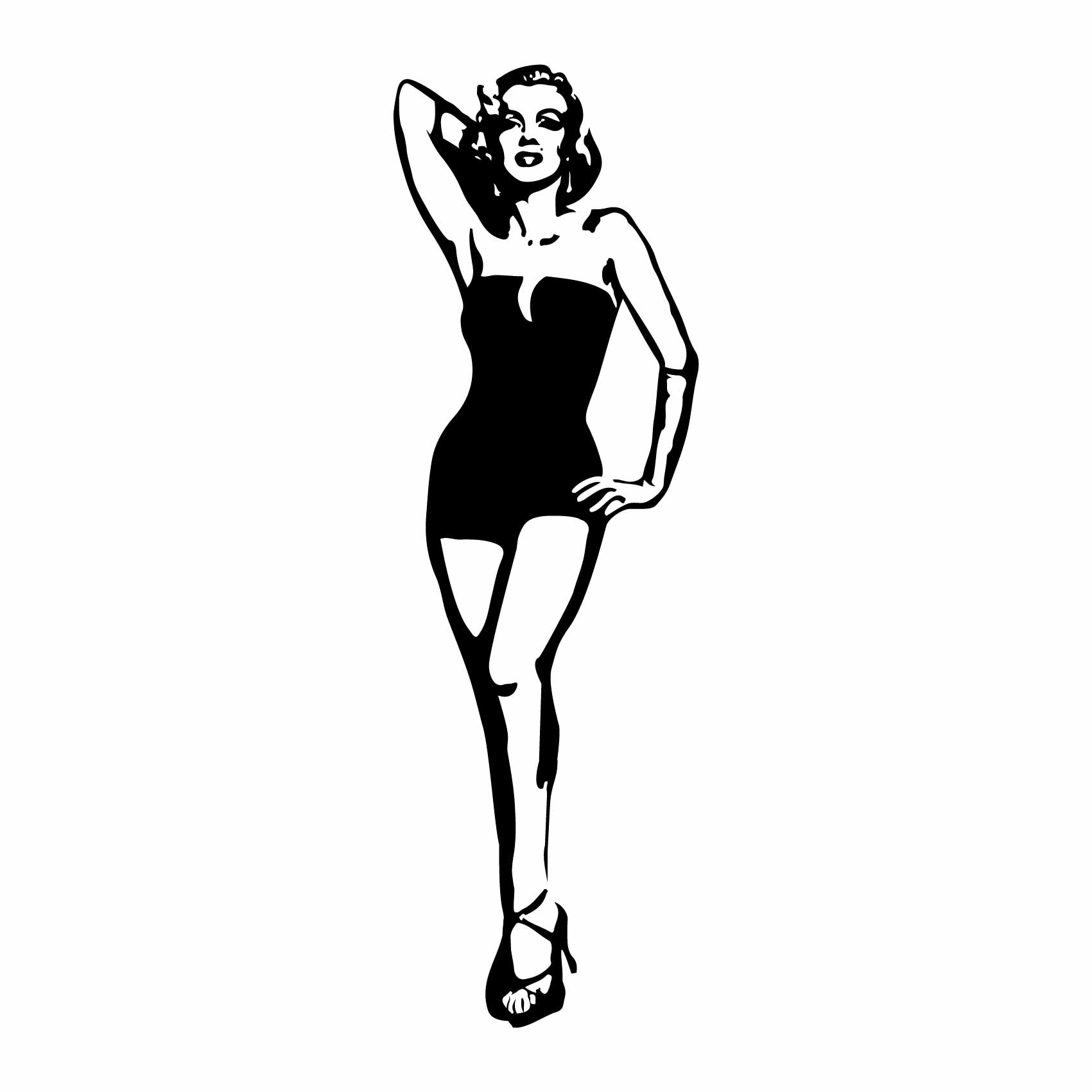 Deco Chambre Maryline Monroe stickers mural marilyn monroe