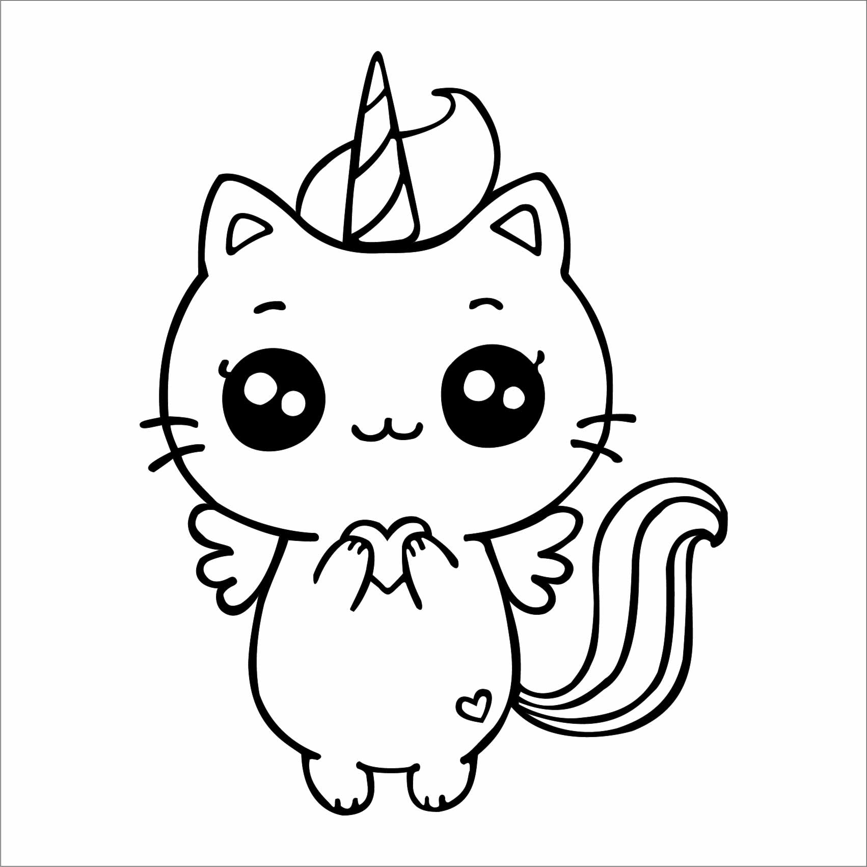 Haut Pour Licorne Chat Mignon Dessin Kawaii - Random Spirit