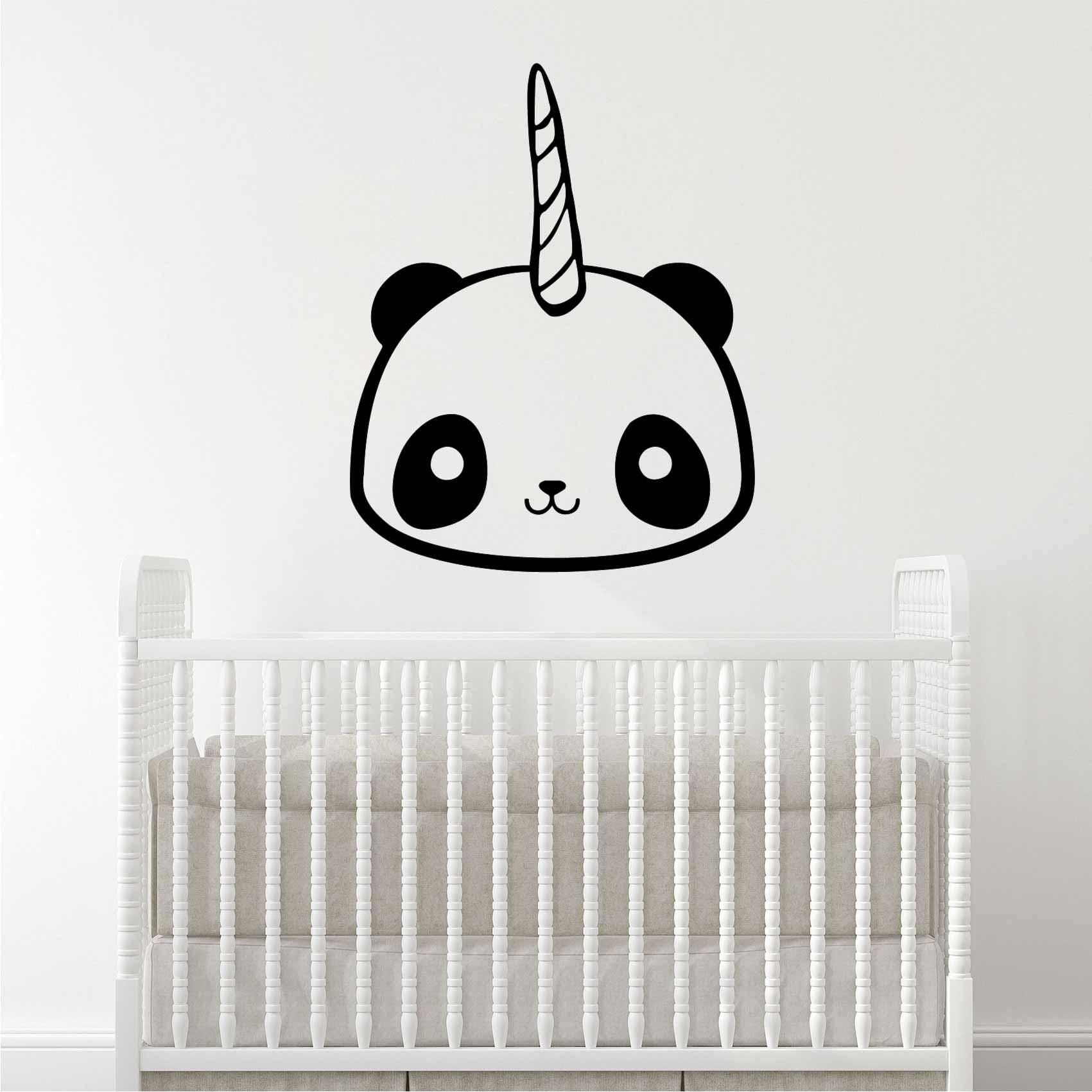 Stickers Kawaii Panda Licorne Autocollant Muraux Et Deco