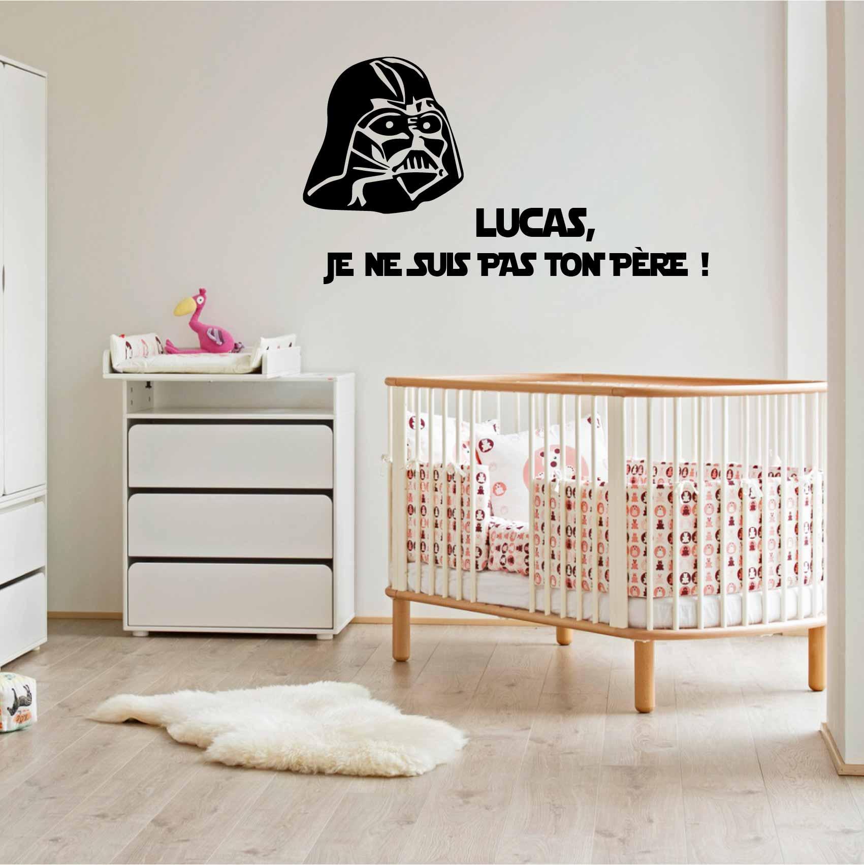 Stickers Star Wars Prenom Personnalise Autocollant Muraux