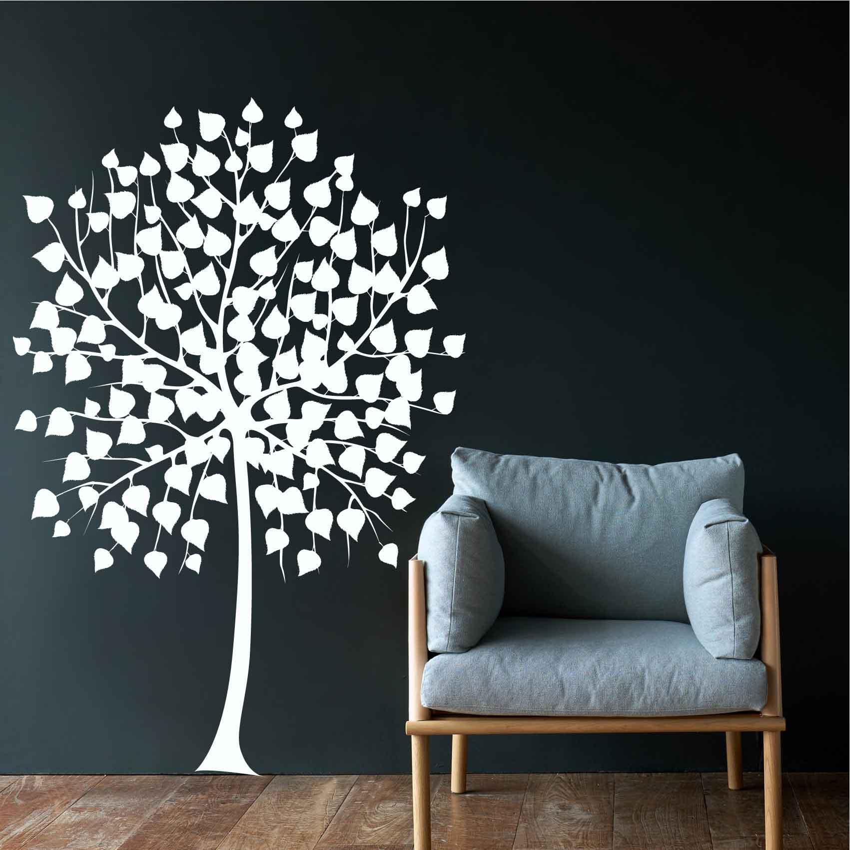 Stickers Arbre Blanc Autocollant Muraux Et Deco