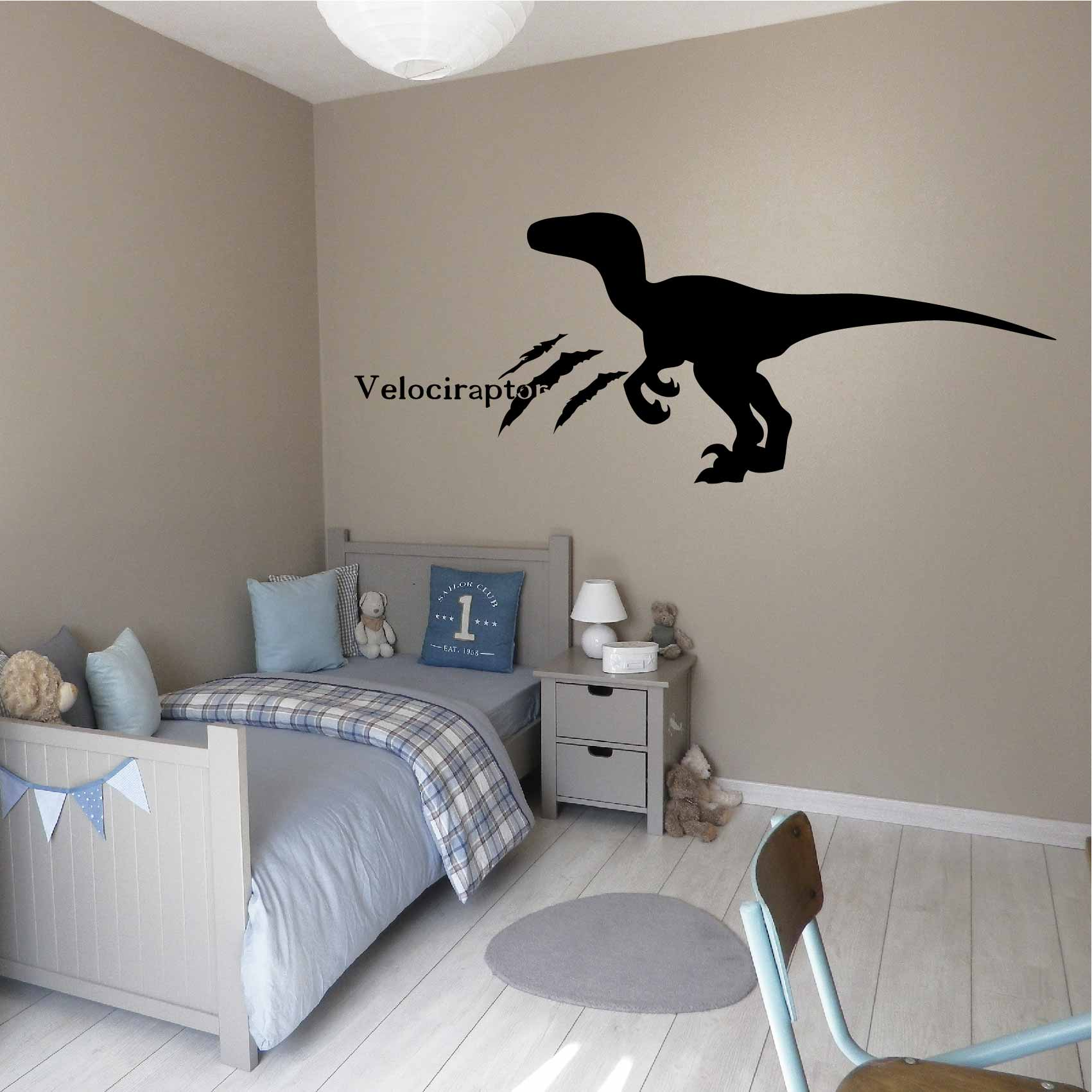Stickers Dinosaure Velociraptor - Autocollant muraux et deco