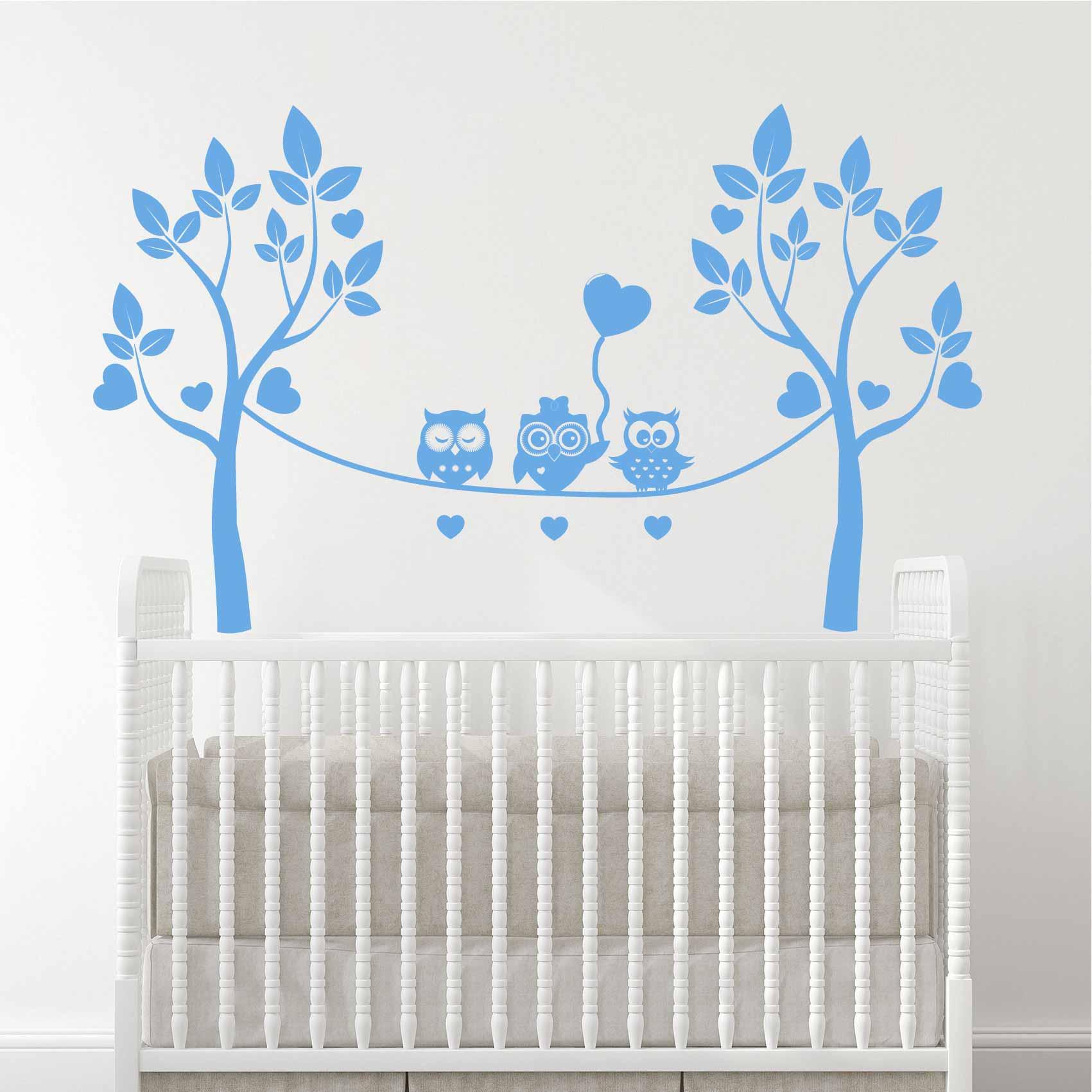 Stickers Muraux Chambre Bébé stickers chambre bébé hiboux