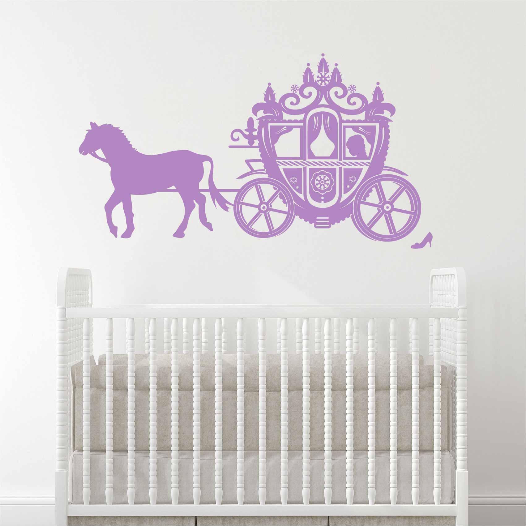Stickers Princesse Carrosse - Autocollant muraux et deco