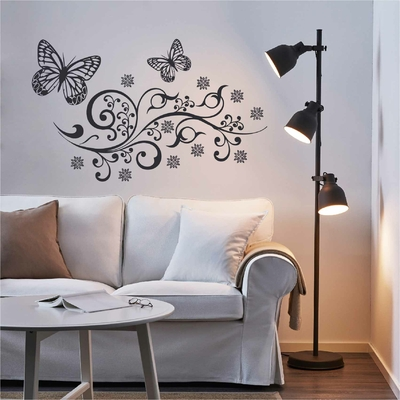 Stickers papillon arabesque
