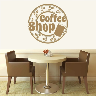 Stickers Coffee Shop Rond