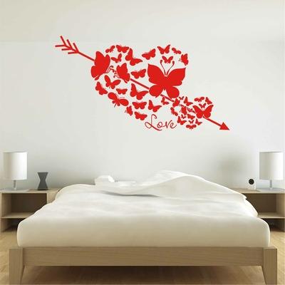 Stickers Chambre Coeur Papillon
